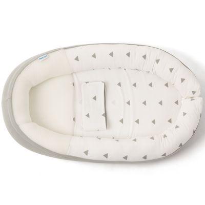 Réducteur de lit en coton bio Cocoon doomoo gris