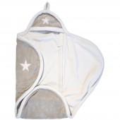 Couverture nomade étoile sable et blanc (naissance) - Jollein