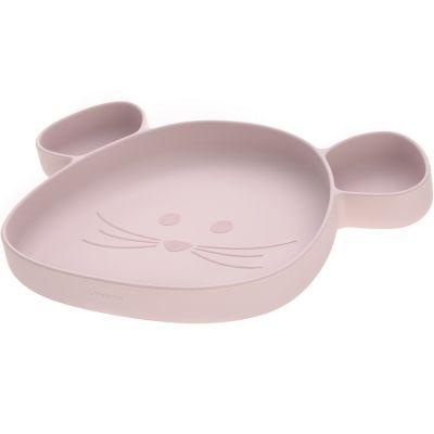 Assiette à compartiments en silicone souris rose Little Chums  par Lässig