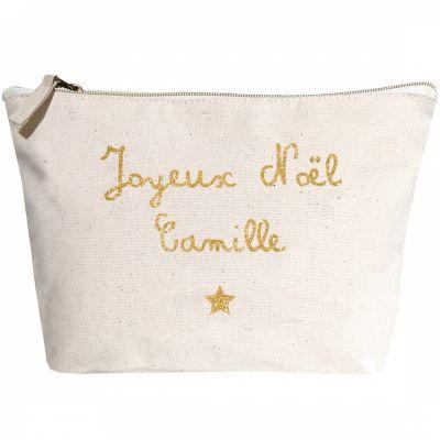 Trousse Joyeux Noël prénom doré (personnalisable)