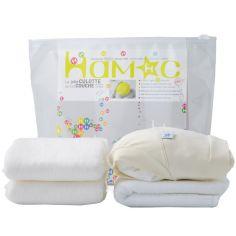 Kit couche en coton bio 5 pièces (Taille M)