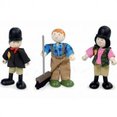 Lot de 3 figurines cavaliers (9 cm)