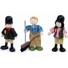 Lot de 3 figurines cavaliers (9 cm)