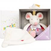 Doudou plat Luminescent souris (25 cm) - Doudou et Compagnie