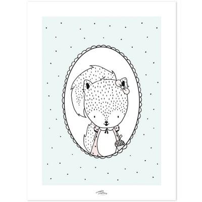 Affiche Susy l'écureuil (30 x 40 cm)  par Lilipinso