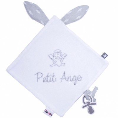 Doudou plat attache sucette Petit ange BB & Co