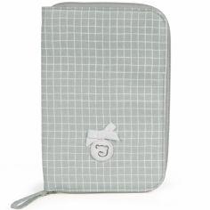 Protège carnet de santé Miel gris