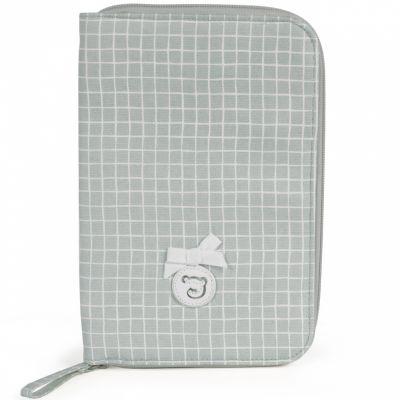 Protège carnet de santé Miel gris  par Pasito a pasito