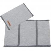 Housse de carnet de santé Grey melange (petit modèle) - Little Dutch