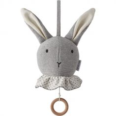 Peluche musicale Angela lapin gris