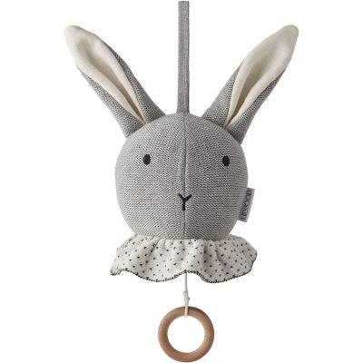 Peluche musicale Angela lapin gris  par Liewood
