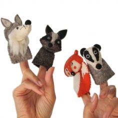 Marionnettes à doigts animaux de la forêt