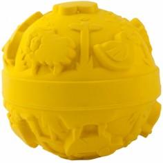 Balle monde latex d'hévéa jaune