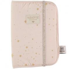 Protège carnet de santé Poema coton bio Gold stella Dream pink