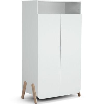Armoire 2 portes + 1 niche en bois de hêtre Pirate blanc  par AT4