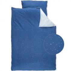 Housse de couette + taie étoile Stary bleu (100 x 140 cm)