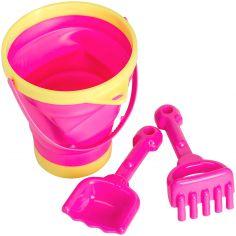 Set de jouet de plage rétractable rose (3 pièces)