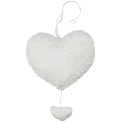 Coeur musical Grey Birds (27 cm) Les Rêves d'Anaïs