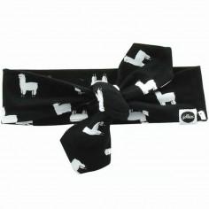 Bandeau bébé Lama noir et blanc