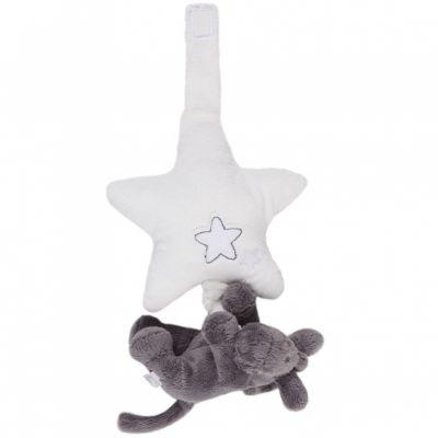 Mini doudou musical Paco âne à suspendre Poudre d'étoiles (15 cm) Noukie's