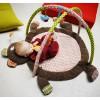 Tapis d'éveil avec arches d'activités Woodours (85 x 85 cm) - Ebulobo