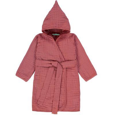 Peignoir en mousseline de coton bois de rose (2-3 ans)  par Lässig