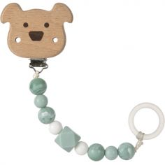 Attache sucette en bois Little Chums chien