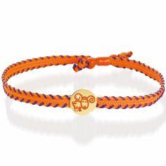 Bracelet cordon Primegioie Zodiaque Bélier (or jaune 375°)