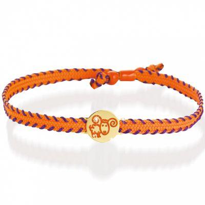 Bracelet cordon Primegioie Zodiaque Bélier (or jaune 375°)  par leBebé