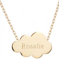 Collier chaîne nuage personnalisable (plaqué or jaune)