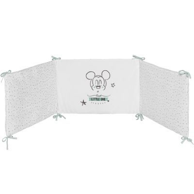 Tour de lit adaptable Mickey Little one (pour lits 60 x 120 et 70 x 140 cm)  par Babycalin