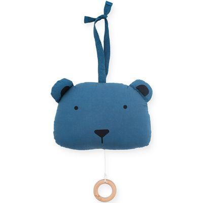 Peluche musicale à suspendre ours bleu (20 cm)  par Jollein