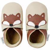 Chaussons bébé cuir Soft soles renard (9-15 mois) - Bobux