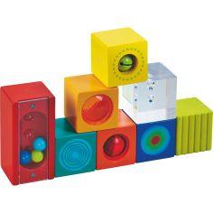 Cubes empilables avec grelots (8 cubes)