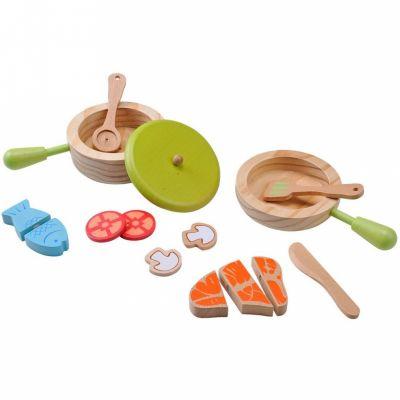 Kit de casseroles et de poêles en bois EverEarth