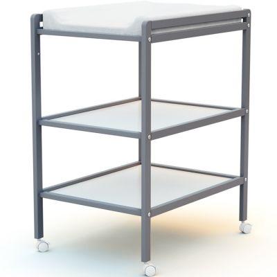 Table à langer en bois de hêtre Essentiel gris  par AT4