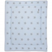 Tapis de parc Star bleu ciel layette et gris (75 x 95 cm) - Baby's Only