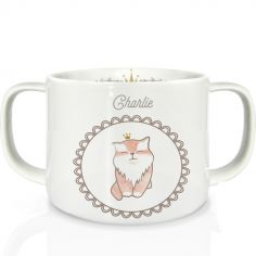 Tasse en porcelaine Chat (personnalisable)