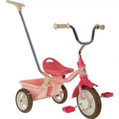 Tricycle Passenger avec panier arrière amovible rose