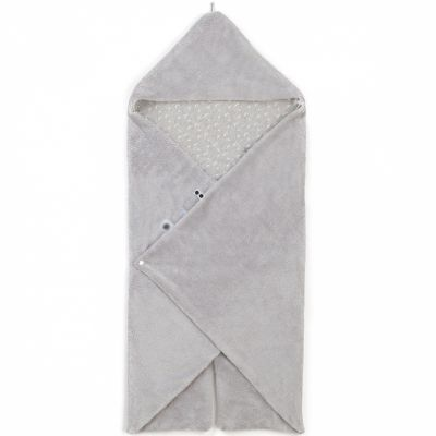 Couverture nomade Trendy Wrapping Lovely Grey (80 x 80 cm)  par Snoozebaby