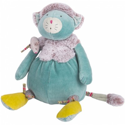 Peluche chat bleu Les Pachats (33 cm) Moulin Roty