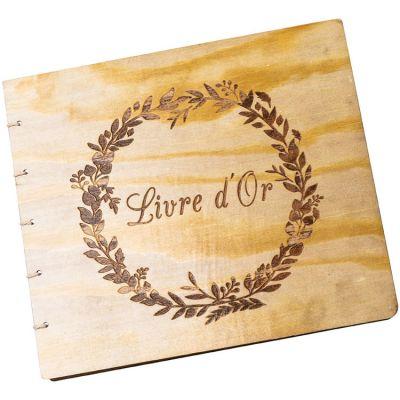 Livre d'or en bois (40 pages)  par Arty Fêtes Factory