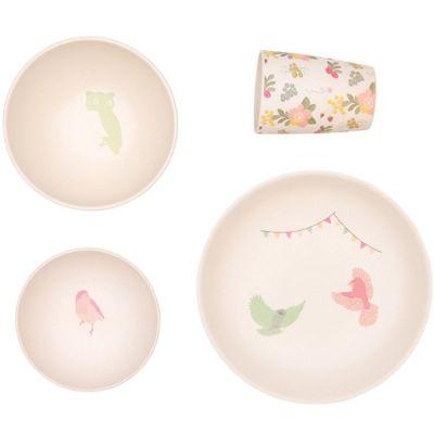 Coffret repas dîner d'oiseaux Woodland Supper (4 pièces)