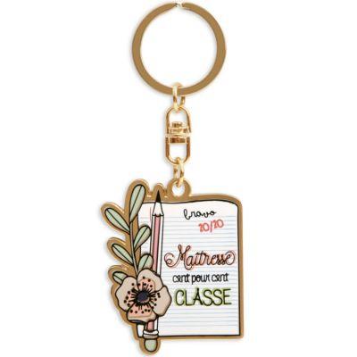 Porte-clés Maitresse  par Créa Bisontine