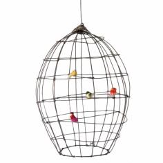 Cage volière décorative en fil de fer