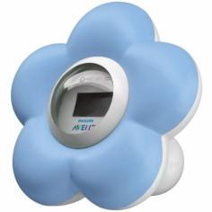 Thermomètre de bain et chambre numérique bleu