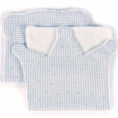 Lot de 2  bavoirs protection d'épaule Petite Etoile couronne vichy bleu