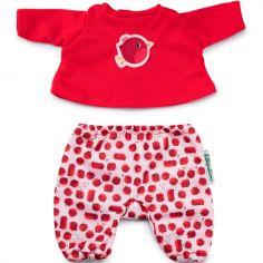 Pyjama oiseau rouge-gorge (pour poupée 36 cm)