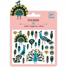 Minis stickers Plumes et Paons