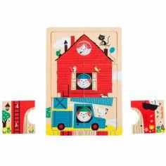 Puzzle à étages Les Bambins (18 pièces)